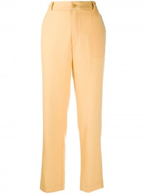 Структурированные брюки чинос Forte. Цвет: желтый