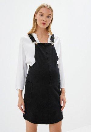 Платье джинсовое Dorothy Perkins Maternity. Цвет: черный