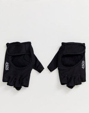 Уплотненные перчатки для тренажерного зала с открытыми пальцами и регулируемым ремешком -Черный цвет ASOS 4505