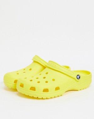 Классические кроксы лимонного цвета -Желтый Crocs