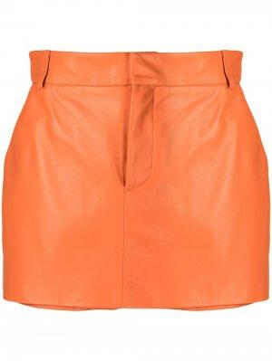 Кожаные шорты April Simonetta Ravizza. Цвет: оранжевый
