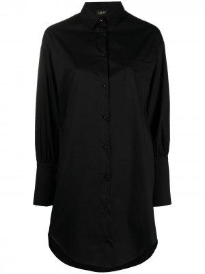 Платье-рубашка LIU JO. Цвет: черный