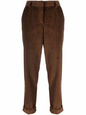 Corduroy straight-leg trousers P.A.R.O.S.H.. Цвет: коричневый