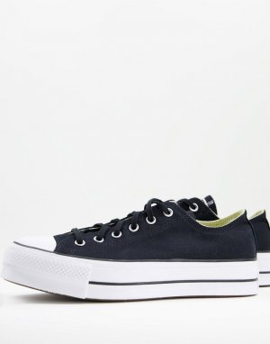 Черные кроссовки на слоеной подошве Chuck Taylor All Star Ox Lift-Черный цвет Converse
