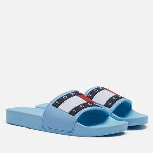 Женские сланцы Essential Logo Pool Slide Tommy Jeans. Цвет: голубой