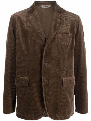 Вельветовый пиджак Aspesi. Цвет: коричневый