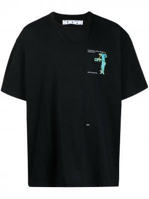 Футболка с логотипом Arrows Off-White. Цвет: черный