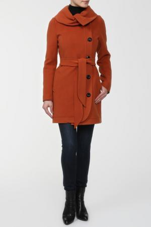 Пальто Elegant Ledy. Цвет: терракот