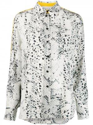 Рубашка с тиснением под змеиную кожу 8pm