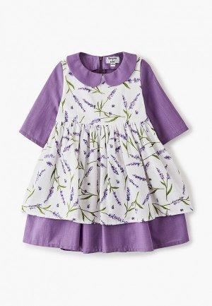 Платье Bonjour Bebe. Цвет: фиолетовый