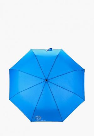 Зонт складной Braccialini. Цвет: синий