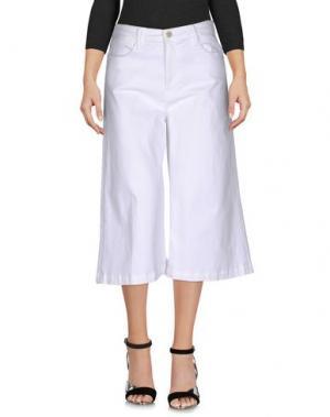 Джинсовые брюки-капри FRAME DENIM. Цвет: белый