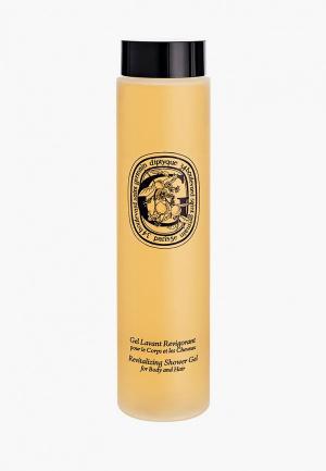 Гель для душа Diptyque восстанавливающий, волос и тела, REVITALIZING SHOWER GEL FOR HAIR AND BODY 200 мл. Цвет: прозрачный