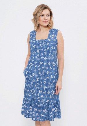 Платье Cleo. Цвет: синий