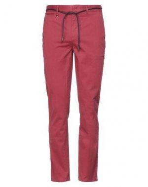 Повседневные брюки ELEVEN PARIS. Цвет: красно-коричневый