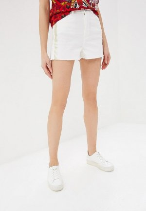 Шорты джинсовые Desigual. Цвет: белый