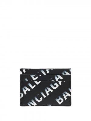 Картхолдер с логотипом Balenciaga. Цвет: черный