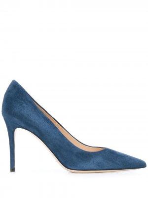 Туфли на высоком каблуке с заостренным носком Deimille. Цвет: синий