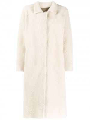 Двустороннее однобортное пальто Liska. Цвет: нейтральные цвета
