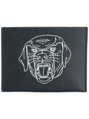 Rottweiler print cardholder Givenchy. Цвет: чёрный