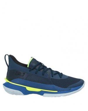 Кеды и кроссовки UNDER ARMOUR. Цвет: темно-синий