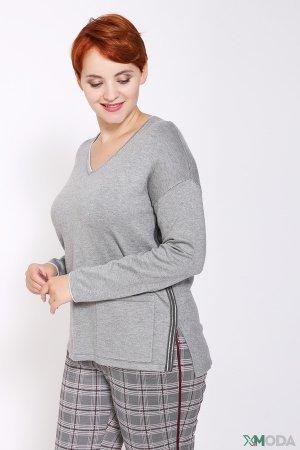 Пуловер Rabe collection. Цвет: серый