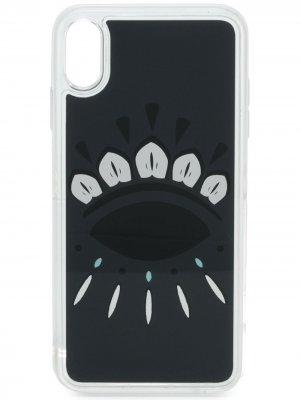 Чехол для iPhone XS с логотипом Kenzo. Цвет: черный