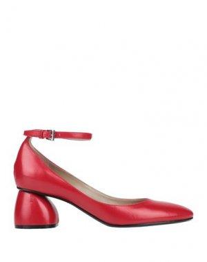 Туфли CARVEN. Цвет: красный