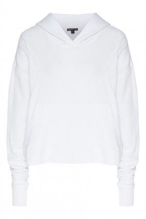 Белое худи с карманом James Perse. Цвет: белый