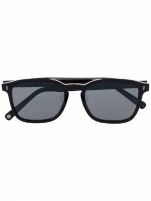 Солнцезащитные очки в квадратной оправе Eight & Bob. Цвет: черный
