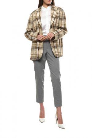 Пальто-пиджак Claude Zana. Цвет: светло-бежевый, коричневый, кл