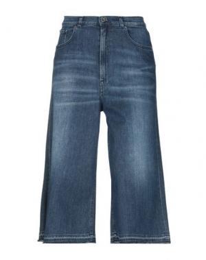 Джинсовые брюки-капри TOMBOY. Цвет: синий