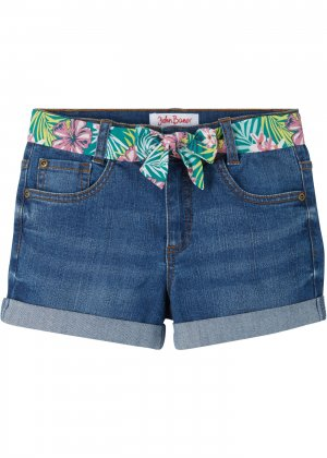 Шорты джинсовые для девочки bonprix. Цвет: синий