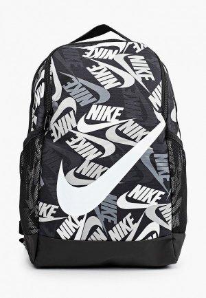 Рюкзак Nike Y NK BRSLA BKPK - AOP SU21. Цвет: черный