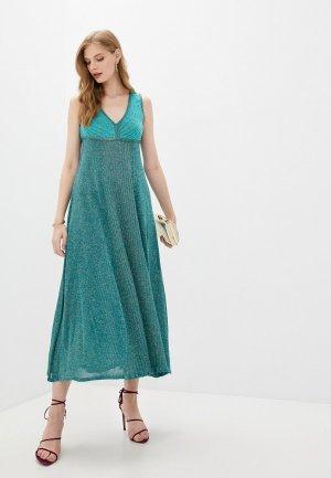 Платье Pinko. Цвет: бирюзовый
