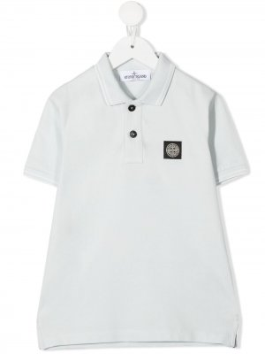 Logo patch polo shirt Stone Island Junior. Цвет: синий