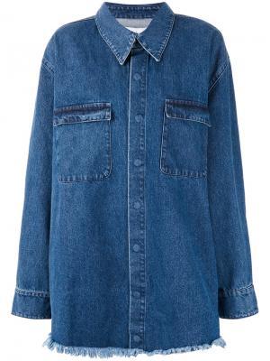Джинсовая куртка Marquesalmeida Marques'almeida. Цвет: синий