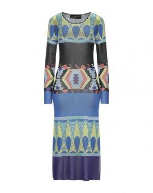 Платье длиной 3/4 CUSTO BARCELONA. Цвет: синий