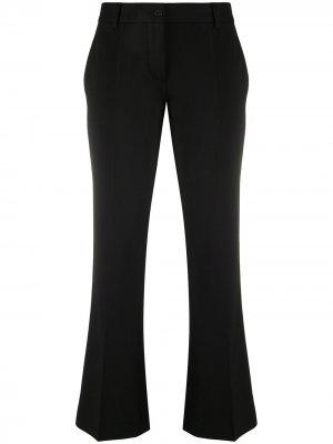Stretch-wool kick-flare trousers Alberto Biani. Цвет: черный