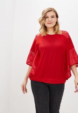 Блуза Olsi. Цвет: красный