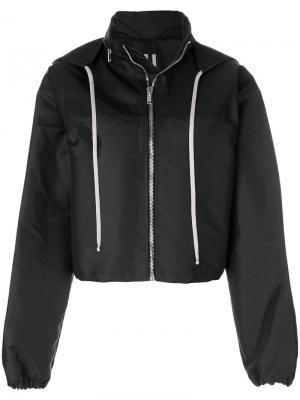 Куртка-бомбер с капюшоном Rick Owens. Цвет: черный