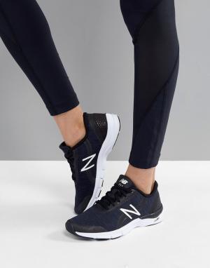 Черные кроссовки Training 711 New Balance. Цвет: черный