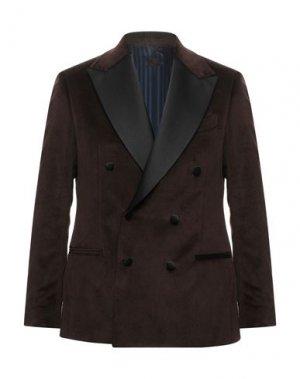 Пиджак MP MASSIMO PIOMBO. Цвет: темно-коричневый