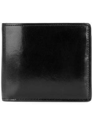 Складной кошелек Yohji Yamamoto. Цвет: чёрный