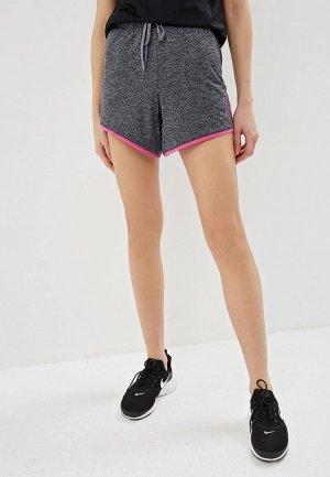 Шорты спортивные Nike DRI-FIT WOMENS TRAINING SHORTS. Цвет: серый