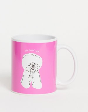 Кружка с надписью For fluffs sake Typo-Розовый цвет TYPO