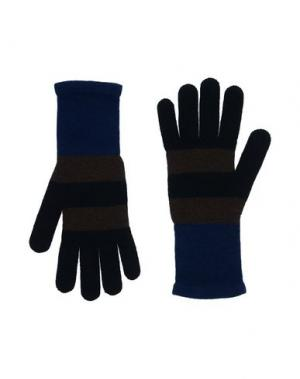 Перчатки FENDI. Цвет: темно-синий