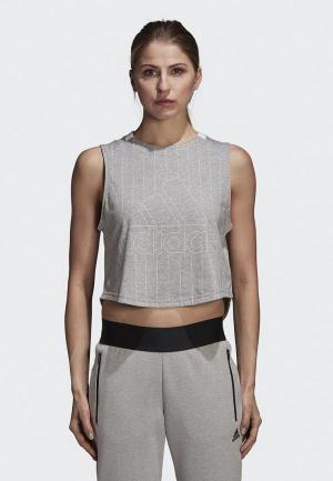 Майка спортивная adidas W SID Tank. Цвет: серый