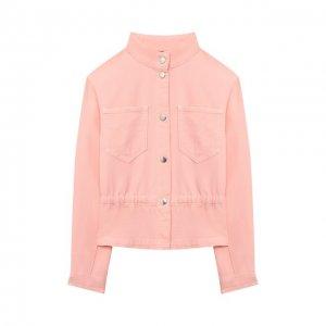 Джинсовая куртка Emporio Armani. Цвет: розовый
