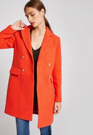Пальто Morgan. Цвет: оранжевый